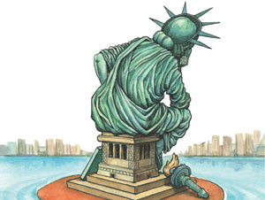 unhappy America