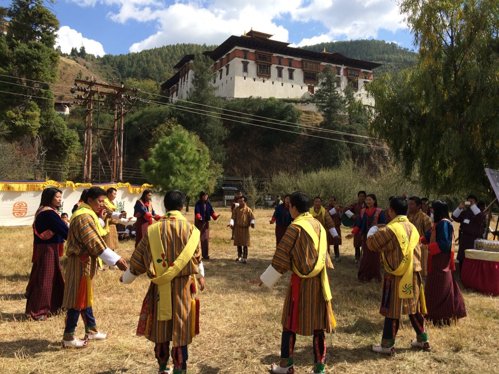 Bhutanese performance during one of the breaks