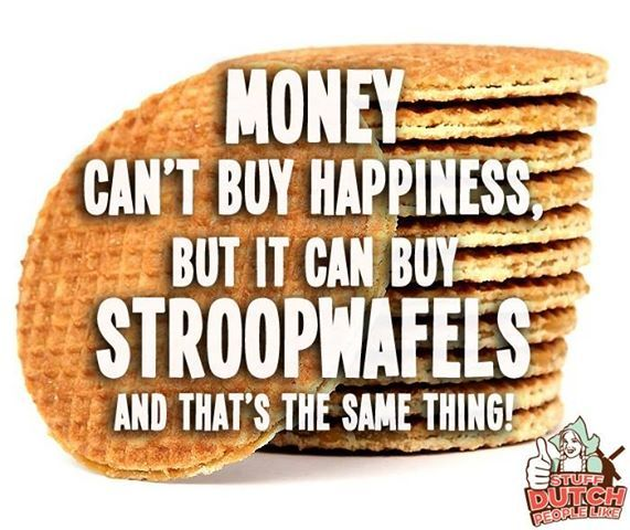 Dutch 'stroopwafels' biscuits, a way to happiness? I'd probably subscribe to that view. Source: image found on Pinterest