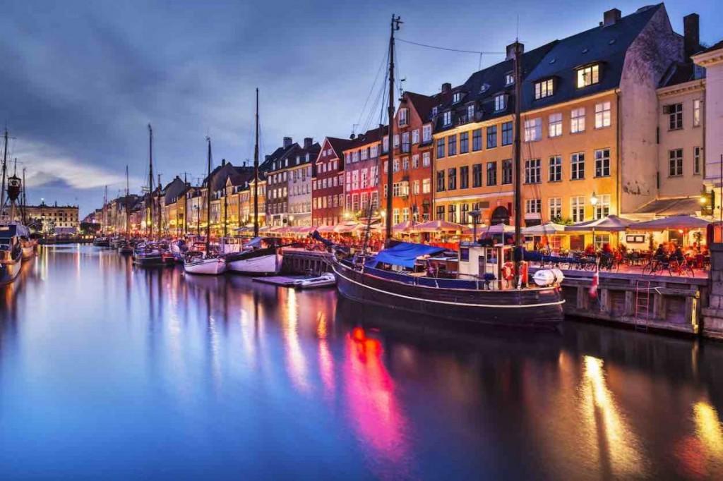 View of Nyhavn, Copenhagen.