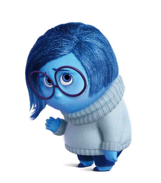 Character 'Sadness' from Inside Out - she is blue for a reason.